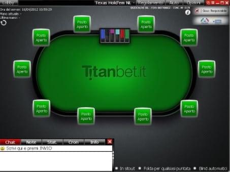 Titanbet Italia e AAMS licenza